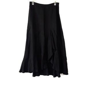 Vintage Anthropologie Ruffle Front Skirt